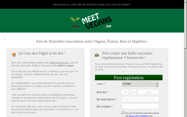 Sites de rencontres vegan